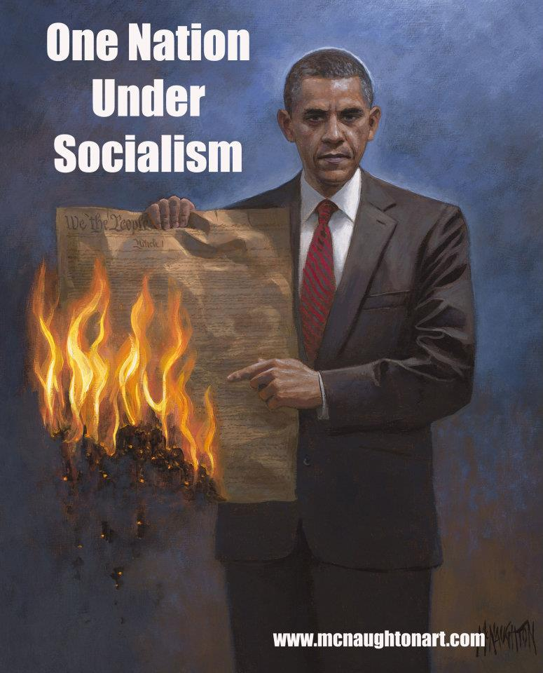 Obama burning the contitution