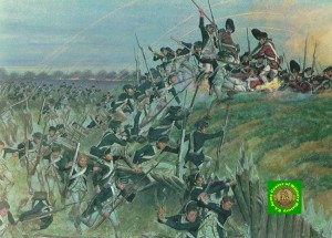 """Yorktown"" by H. Charles McBarron for ""Soldiers of the American Revolution"""