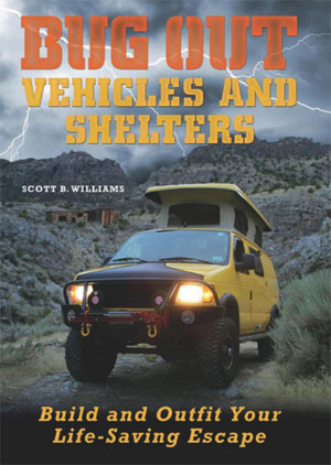 The front cover of Bug Out Vehicles and Shelters.