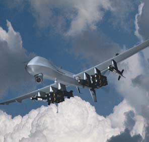 Artwork Depicting An Armed US Predator UAV