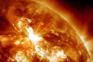 An image of solar storms